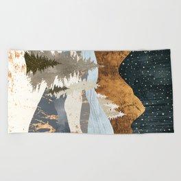 Winter Stars Beach Towel