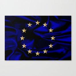 EU Silk Flag Canvas Print
