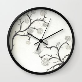 Roses Have Thorns Wall Clock