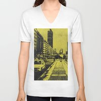 milan V-neck T-shirts featuring Milan 2 by Anand Brai