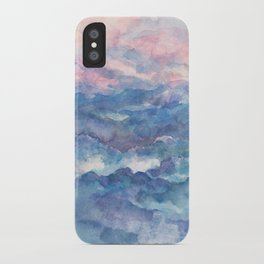 Distant View- 遠望 : watercolor iPhone Case