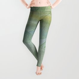 Delicate Painterly Leaves Leggings