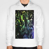 duvet cover Hoodies featuring LONELY FOREST DUVET COVER by aztosaha