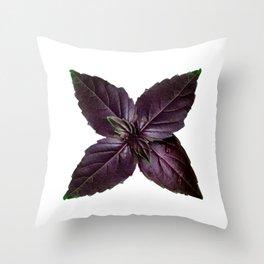 Purple Basil Throw Pillow