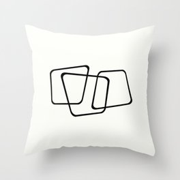 Simply Minimal - Black and white abstract Throw Pillow
