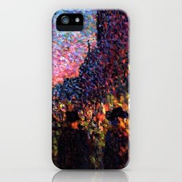 Paris Boulevard Masterpiece by Maximilian Luce iPhone Case