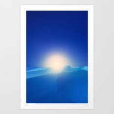 Ice Cold Blue Art Print