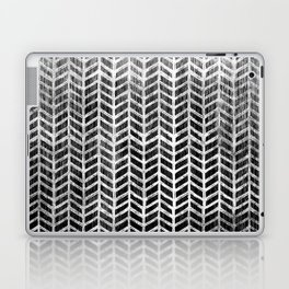 Herringbone & Teak (Black & White) Laptop & iPad Skin