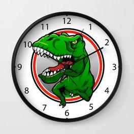 Angry Tyranosaurus rex  Wall Clock