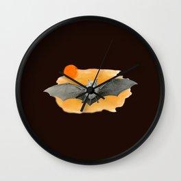 BAT AT THE SUNSET Wall Clock