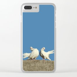 Couple of White Doves Clear iPhone Case
