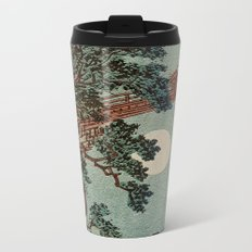 Saruhashi Bridge in Kai Province Japan Metal Travel Mug