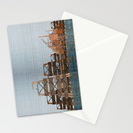 Rigs at sea Stationery Cards