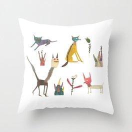 Creatures Throw Pillow