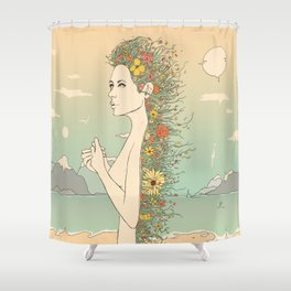 Facade of Existence (Let Life Blossom) Shower Curtain