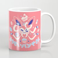 "sylveon Mugs featuring ""Sweet"" Fairy Bakery by Miski"