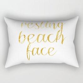 Resting Beach Face Rectangular Pillow