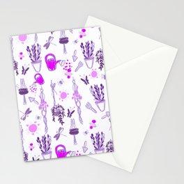 Ultra violet sweet spring English garden Stationery Cards
