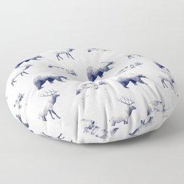 Wild Pattern // Blue Floor Pillow