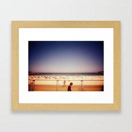 a bondi summer day Framed Art Print