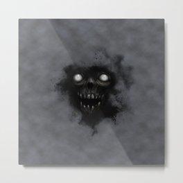 Undead Mask Metal Print