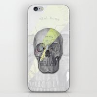 aladdin iPhone & iPod Skins featuring Aladdin Sane Skull by Computarded