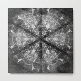 Magical black and white mandala 007 Metal Print