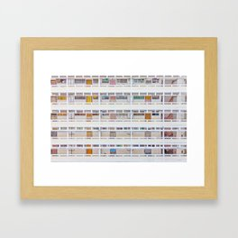 Hong Kong apartment in old district Framed Art Print
