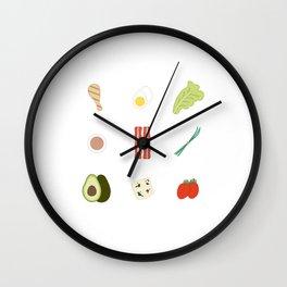 Cobb Salad Wall Clock