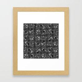 Serious Circuitry Framed Art Print