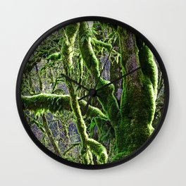 RAIN FOREST MAPLES IN SPRING Wall Clock