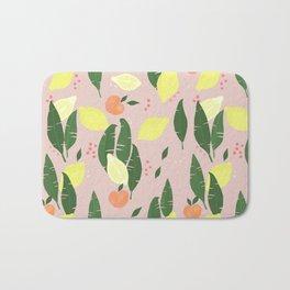 Lemons and Peaches Bath Mat