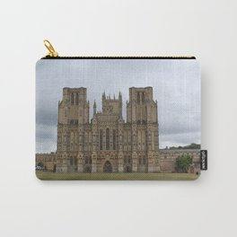 Wide-Angle of Wells Cathedral in Somerset, England Carry-All Pouch