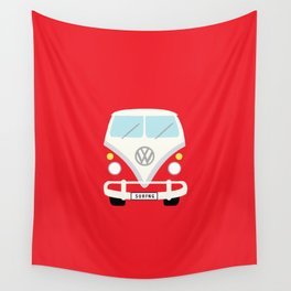 Surf's Up Minimal Bus Wall Tapestry
