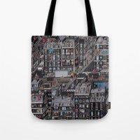 the neighbourhood Tote Bags featuring Parisian Neighbourhood by Guillaume Cornet