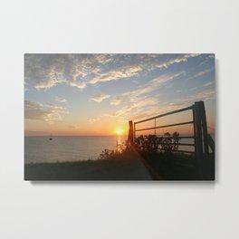 Sunset dutch landscape Metal Print