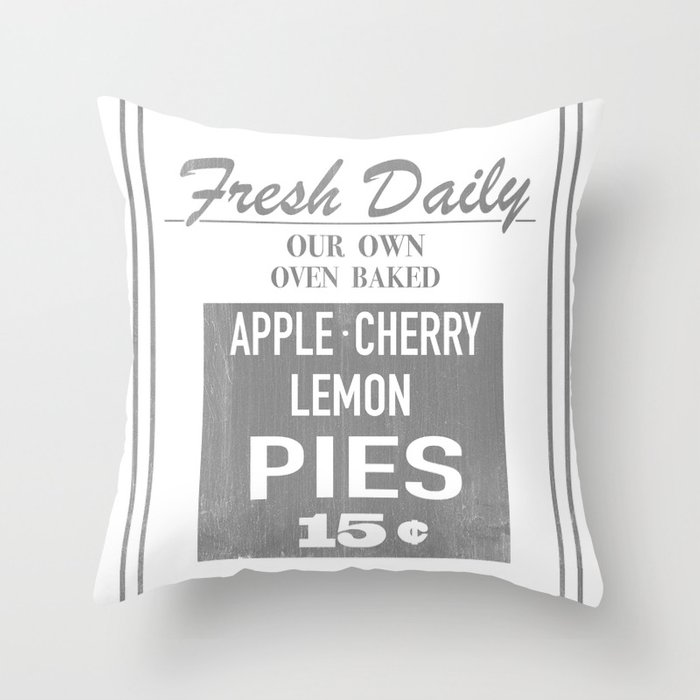 Fresh Pies Throw Pillow