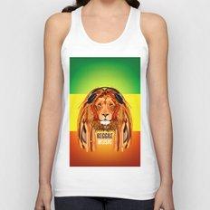 Rasta Lion Unisex Tank Top