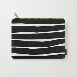Stripes - Black Carry-All Pouch