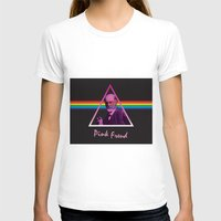 freud T-shirts featuring Pink Freud by Priscylla Cabral