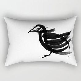 Bird - fusion of pen strokes Rectangular Pillow