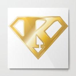 Gold Super K Logo Metal Print