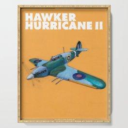 RAF Hawker Hurricane by Dennis Weber of ShreddyStudio Serving Tray