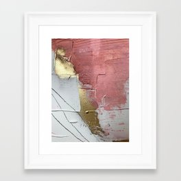 Darling: a minimal, abstract mixed-media piece in pink, white, and gold by Alyssa Hamilton Art Framed Art Print