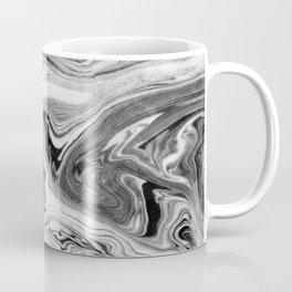 Mizuki - spilled ink marbling paper marble swirl abstract painting original art india ink minimal Coffee Mug