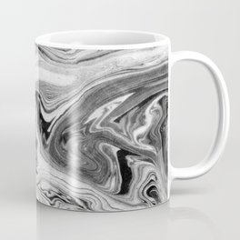 Mizuki - spilled ink marbling paper marble swirl abstract painting original art india ink minimal Coffee Mug