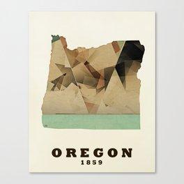 Oregon state map modern Canvas Print