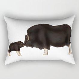 Baby Musk Oxen - Arctic Blue Rectangular Pillow