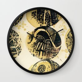 Allergens as Art Wall Clock