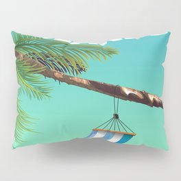 British Virgin Islands beach poster. Pillow Sham